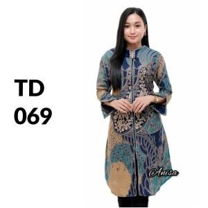 Harga tunik atasan batik solo batik kantor baju batik wanita td 069   | HARGALOKA.COM