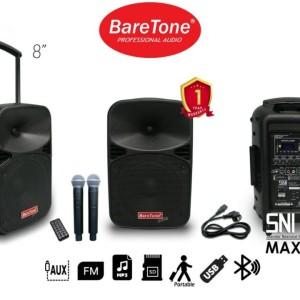 Harga speaker aktif portable baretone max 8eb 8 inch free stand mic | HARGALOKA.COM
