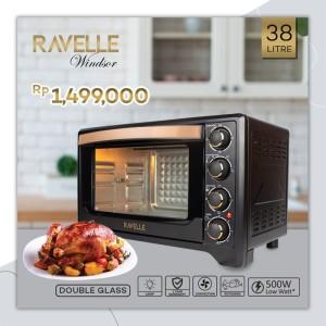 Harga oven listrik ravelle windsor double glass door | HARGALOKA.COM