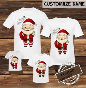Harga kaos baju natal couple keluarga santaclause free tambah | HARGALOKA.COM