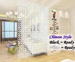 Harga meth vintage 3d partisi ruangan tirai gantung motif baru   chinese style | HARGALOKA.COM