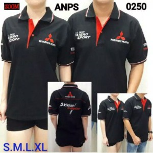 Harga kaos kerah otomotif pajero sport kaos seragam bordir seragam kerja   hitam | HARGALOKA.COM