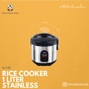 Harga sanken sj 135 sp magic com rice cooker 3 in 1 hitam 1 liter | HARGALOKA.COM