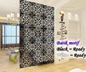 Harga vintage 3d batik flower tirai gantung partisi penyekat ruangan   | HARGALOKA.COM