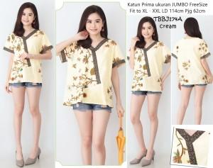 Harga top jumbo batik blouse wanita atasan formal baju casual blus | HARGALOKA.COM