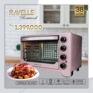 Harga oven listrik ravelle rosewood pink 38 l oven listrik | HARGALOKA.COM