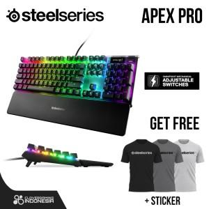 Harga steelseries apex pro   gaming keyboard blue red brown omnipoint   HARGALOKA.COM