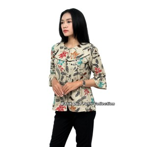 Harga batik wanita atasan batik blouse batik model peplum   | HARGALOKA.COM