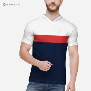 Harga baju cowo kaos hoodie pendek pria t shirt distro h01b   tc 1046 m   putih mrh navy | HARGALOKA.COM