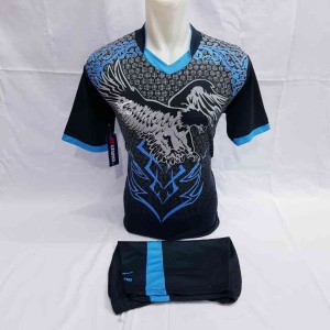 Harga baju olahraga specs batik jersey bola futsal sepakbola volly badminton   hitam biru 13 | HARGALOKA.COM