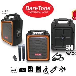 Harga speaker portable baretone 2 mic wireless usb fm bluetooth | HARGALOKA.COM