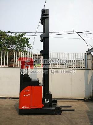 Harga linde sewa reach truck forklift bekas 11 5 meter kapasitas 1 6 | HARGALOKA.COM
