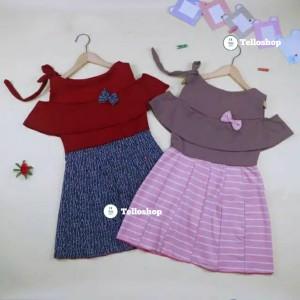 Harga dress rachel uk 4 5 tahun baju dres anak perempuan model gaun | HARGALOKA.COM