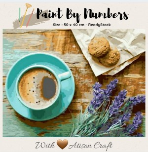 Harga diy lukisan paint by number 50 cm x 40 cm   coffee | HARGALOKA.COM