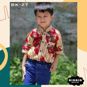 Harga baju batik anak laki katun bagus kemeja kombinasi usia 0 14 tahun bk27   0 1 | HARGALOKA.COM