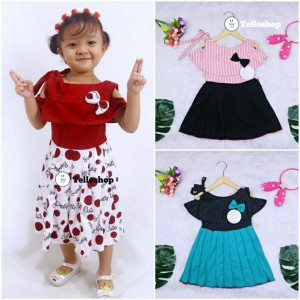 Harga dress rachel uk 2 3 tahun dres model baju anak perempuan gaun pesta   2 3 | HARGALOKA.COM