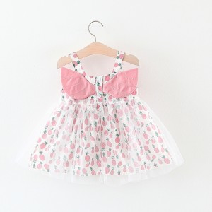 Harga 0 4 tahun dress baju pesta anak pakaian bayi rok tile pink lucu cute   80 6bl 1   HARGALOKA.COM