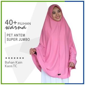 Harga jilbab instan pet antem size super jumbo hijab kaos bergo pet | HARGALOKA.COM