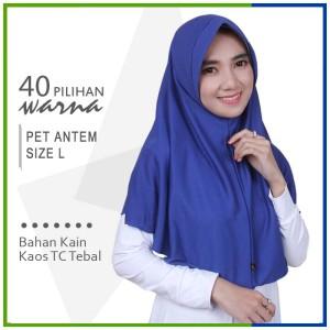 Harga jilbab instan pet antem l hijab kaos bergo anthem size | HARGALOKA.COM
