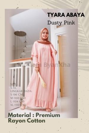 Harga baju gamis wanita dress muslim tyara abaya terbaru murah cantik   dusty pink | HARGALOKA.COM