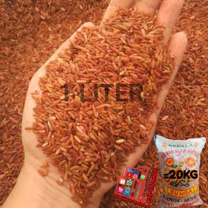 Harga beras merah pecah kulit super cap bunga 1 liter | HARGALOKA.COM