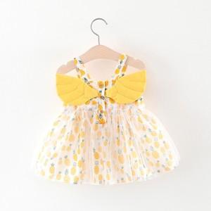 Harga 0 4 tahun dress baju pesta anak pakaian bayi rok tile kuning lucu cute   80   HARGALOKA.COM