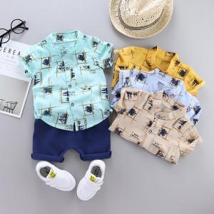 Harga 0 4 tahun setelan baju anak laki laki cowok kemeja celana premium   krem 80 0 1   HARGALOKA.COM
