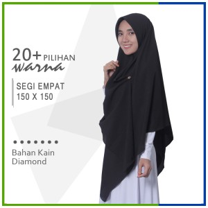 Harga jilbab segi empat 150 x 150 diamond pashmina sabyan jumbo | HARGALOKA.COM