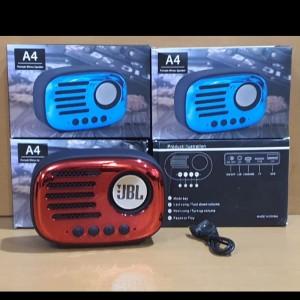 Harga speaker bluetooth jbl a4 speker wireless portable music box fm radio     HARGALOKA.COM