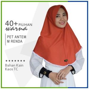 Harga jilbab instan pet antem renda m hijab kaos bergo pet renda size | HARGALOKA.COM