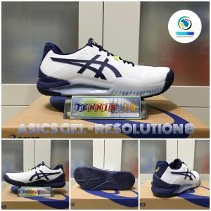 Harga sepatu tenis asics gel   resolution 8   navy | HARGALOKA.COM