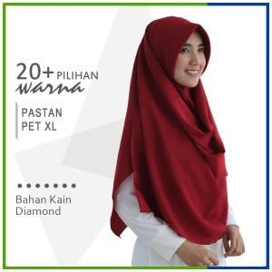 Harga jilbab pashmina instan pet xl pastan pet zakia sala diamond crepe | HARGALOKA.COM