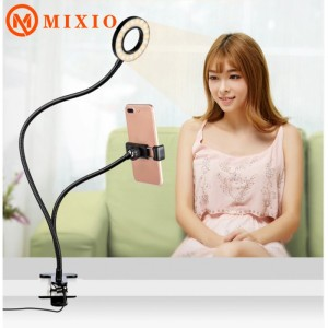 Harga mixio ring light 3 mode phone holder 2in1 ringlight lazypod   HARGALOKA.COM
