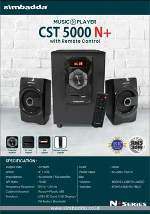 Harga promo termurah simbadda speaker cst 5000 n   HARGALOKA.COM