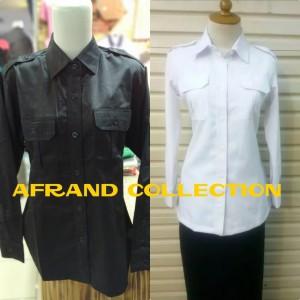 Harga kemeja seragam kerja pns baju kantor kemeja kantor baju pdh slimfit   putih | HARGALOKA.COM