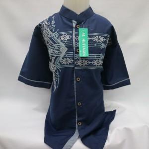 Harga grosir baju koko anak atasan muslim laki   laki lengan pendek baru   biru 14 15 | HARGALOKA.COM