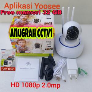 Harga promo ip camera cctv wifi wireless memori 32 gb tinggal | HARGALOKA.COM