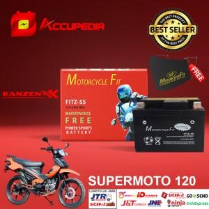 Harga aki motor kanzen supermoto 120 accu mf gtz5s accu kering aki mf | HARGALOKA.COM