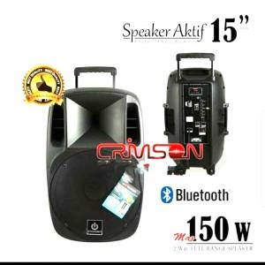Harga speaker portable crimson 15 inch cr  15 35 meeting | HARGALOKA.COM