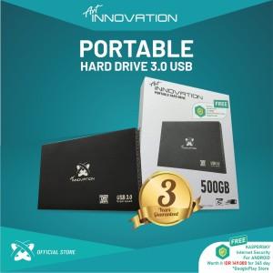 Harga hdd external portable innovation 500gb 2 5 34 garansi 3 thn hard | HARGALOKA.COM