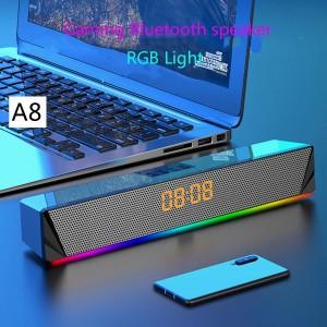 Harga speaker bluetooth rgb with led lighting and alarm clock | HARGALOKA.COM