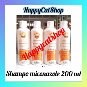 Harga shompo miconazole untuk tritmen jamu buat kucing dog 200 | HARGALOKA.COM