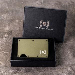 Harga dompet kartu money clip cardholder slim wallet tsw rfid   olive | HARGALOKA.COM