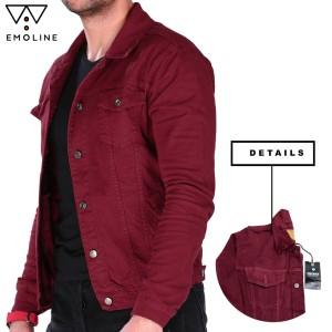 Harga jaket jeans pria marun jaket denim pria original emoline   merah marun   HARGALOKA.COM