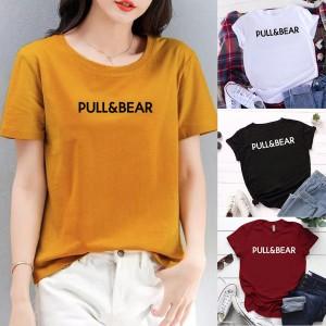 Harga kaos wanita kk02 tshirt katun combed 30s tumblr tee   m | HARGALOKA.COM