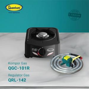 Harga paket kompor gas 1 tungku qgc 101 r dan selang regulator qrl | HARGALOKA.COM