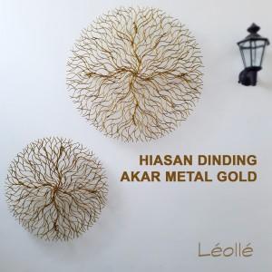 Harga hiasan dinding metal emas wall arts decor diameter | HARGALOKA.COM