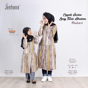 Harga baju tunik couple ibu dan anak panjang motif muslim shaima jhn   mom | HARGALOKA.COM