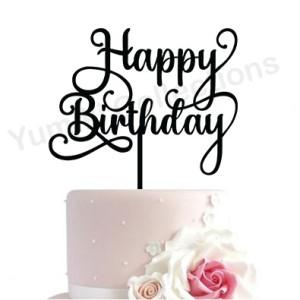 Harga cake topper happy birthday hiasan kue ulang tahun akrilik murah   s | HARGALOKA.COM