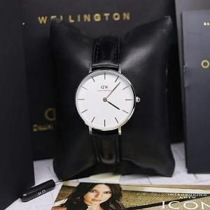 Harga jam tangan dw celasik wanita quality original strap kulit dm 3 2cm   black | HARGALOKA.COM